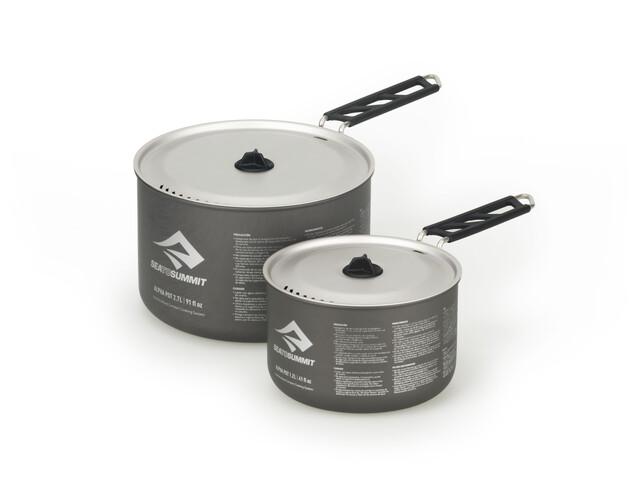 Sea to Summit Alpha Pot Set 1,2l and 2,7l grey